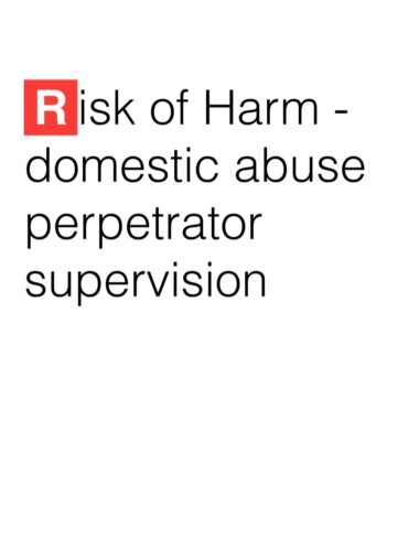 Perpetrator supervision and the impact on Women and Children: The privatisation of Probation