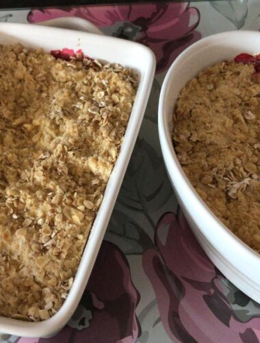 Social capital, community strength, apple crumble and coming together in difficult times